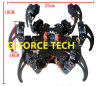 Arduino Controlled Al Hexapod Spider Six 3 Dof Legs Robot Frame Kit + Clamp Set Fully Compatible Arduino