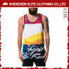 Drop Armhole Funny Printed Sleeveless Tank Top Men (ELTMBJ-573)