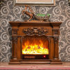 Ce Approved Furniture Sculpture 3D LED Lights Electrical Fireplace (318SS)