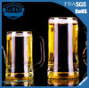 Glass Beer Mug with Handle. High Quality Heat Resistant Glass Cup