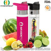 700ml Customized BPA Free Plastic Fruit Infusion Bottle, Newly Tritan Water Bottle (HDP-0473)