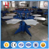 Manual T Shirt Screen Printing Machine for 8 Color 8 Station