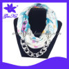 2013 Gus-Jsf-014 Newest and Hot Fashion Lady Shawl in Dacron Material with Metal Parts Decoration for Warming