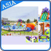 Giant Inflatable Swimming Pool Water Park with Slide, Outdoor Amusement Water Park