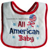 Factory Produce Custom Design Embroidered Cotton Terry Baby Apron Bib