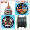 Underground Electrical Power Cable with Steel Wire Armour