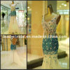Crystals Evening Gown Mermaid Sexy Beaded V-Neck Blue Evening Prom Gowns E15901