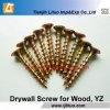 Tianjin Manufacturer Yellow Zinc Bugle Head Drywall Screws