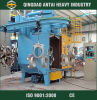 Shot Blasting Machine with Hanger Hook Cleaning
