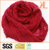 Acrylic Fashion Lady Winter Warm Hollow-out Red Knitted Neck Scarf