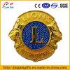 Custom 3D Yellow Metal Lion Badge