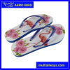 Hottest Digital Printing PE Slipper Flip Flop for Girl (BF15001-Blue)