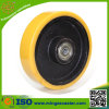 8 Inch Cast Iron Yellow PU Wheel