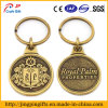 Antique Gold Plated Metal Custom Keychain
