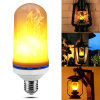 LED Flame Effect Fire Light Bulbs, Creative Lights with Flickering Emulation