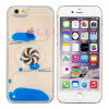 Fashion Rotatory Compass Pinkwheel Flowing Liquid Oil Phone Case for iPhone5/6/6plus