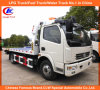 5ton Tilt Tray Wrecker for Dongfeng Flatbed Wrecker Tow Truck