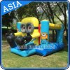 Backyard Inflatable Minion Cartoon Bouncy Castle with Slide