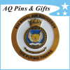 Military Coin with Enamel in Antique Gold, Challenge Coin