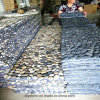 Hot Sale Black Long Pebble Garden Mat for Decoration