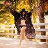 Summer Holiday Women Black Maxi Beach Cover Dress