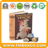 Book Shaped Metal Chocolate Storage Tin for Food Can Packaging