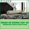 Simple Living Room Design Leather Corner Sofa