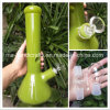 12 Inch Glass Smoking Water Pipes with Beaker Opaque Green