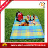Airline Use Roll-up Picnic Blanket Fleece Blanket with Printing in Plastic PVC Bag