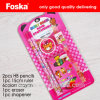 Blister Card Packing Pink Funny School&Kids Stationery Set