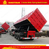 3 Axle 80 Ton Side Tipping Semi Trailer Dump Truck Trailer