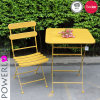 Modern Wrought Iron Patio Table Set for Outdoor Use