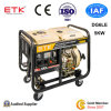 5kw Diesel Generator Set with Low Costs (Big Wheels)