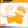 Leather Safety Working Labour Gloves CE (SX-SLD-4013)