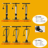 Bike Pump, Bicycle Pump for Sale Tim-Zf005