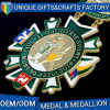 Custom Making Gold Brass Medal with Lanyard