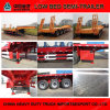 Steel Material Flat Bed Trailer for Tractor Used 60 Tons