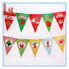 Christmas 3 Meter Paper Cartoon Hang Flag and Banners