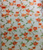 Pretty Nice Floral Design Embroidery on Mesh Fabric for Garments
