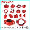 """UL Listed, FM Approved, Mechanical Tee 4""""X2-1/2′′ Grooved"""