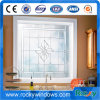 Aluminum Profile Garden Toilet Fixed Shaped Round Glass Window