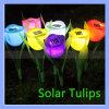 Portable 2V 400mA Solar Power Tulip Lamp Flower Lawn Light