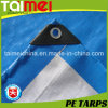 White/D. Blue PE Tarpaulin with UV Treated