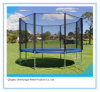 Outdoor Round Trampoline with Ladder for Kids Jumping