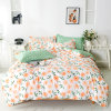 Floral Printed Countryside Style 90GSM Polyester Bedding Set with Bedsheet Duvet Cover