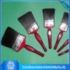 Deep Maroon Wooden Handle Flat Black Bristle Paint Brush