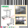 Metal Nestable Folding Warehouse Logistic Trolley 2 Tiers
