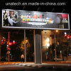 Outdoor Unipole Advertising Prisma Outside LED Lighting 3 Three Side Billboard