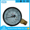 50mm Black Steel Side Connection Pressure Gauge Manometer
