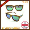 High Quality Color Wood Sunglass with 1.1mm Polarized Lens Mirrored